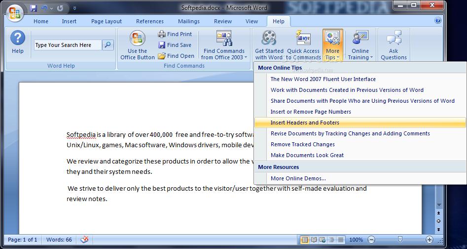 Download Microsoft Office 2007 Help Tab 1.0.0