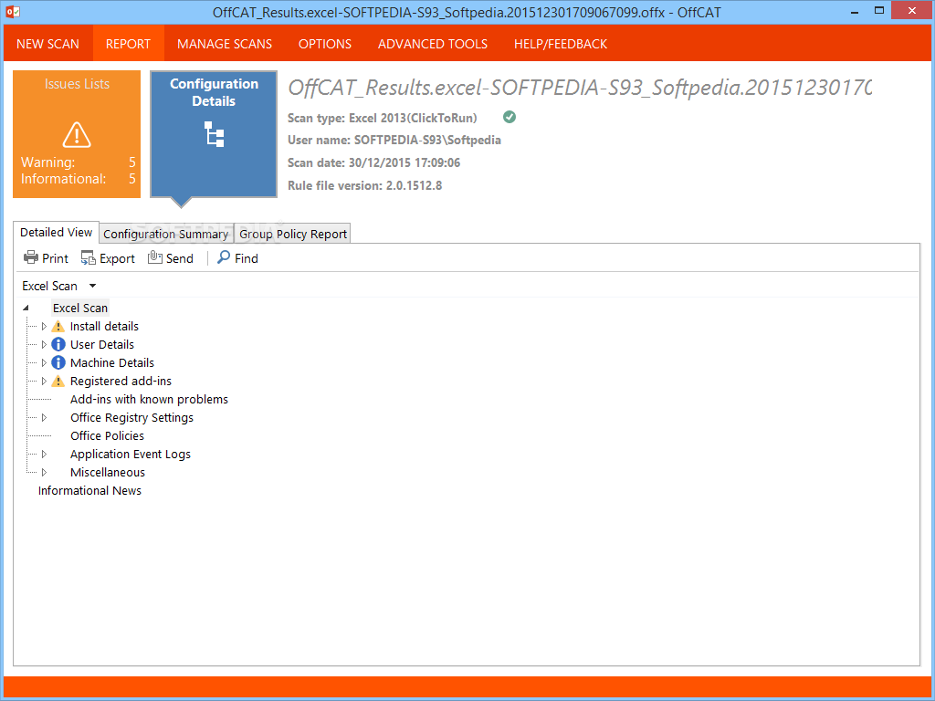 Download Microsoft Office Configuration Analyzer Tool (OffCAT) 2 2