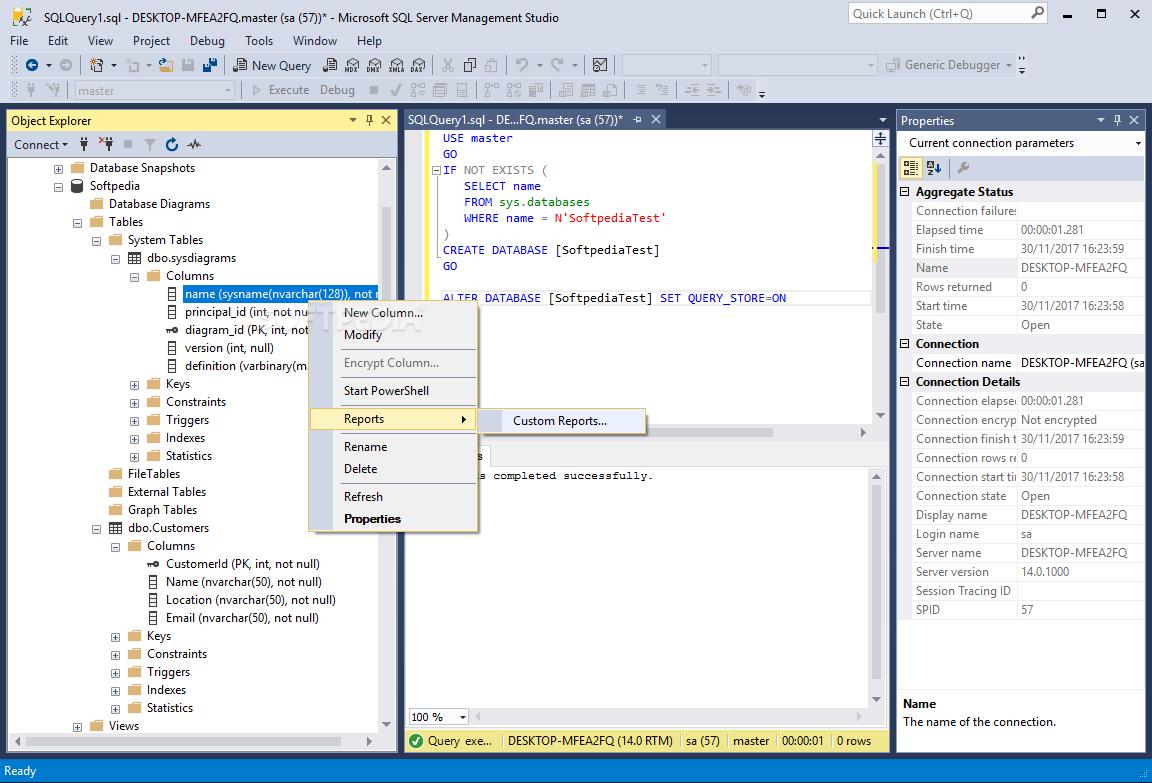 SQL Server Management Studio (SSMS) - SQL Server
