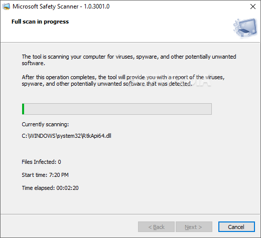 Download Microsoft Safety Scanner 1 0 3001 0 (September 9, 2019)