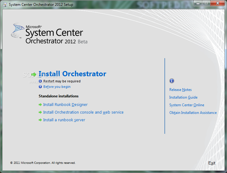 Download Microsoft System Center Orchestrator 2012 SP1 Beta