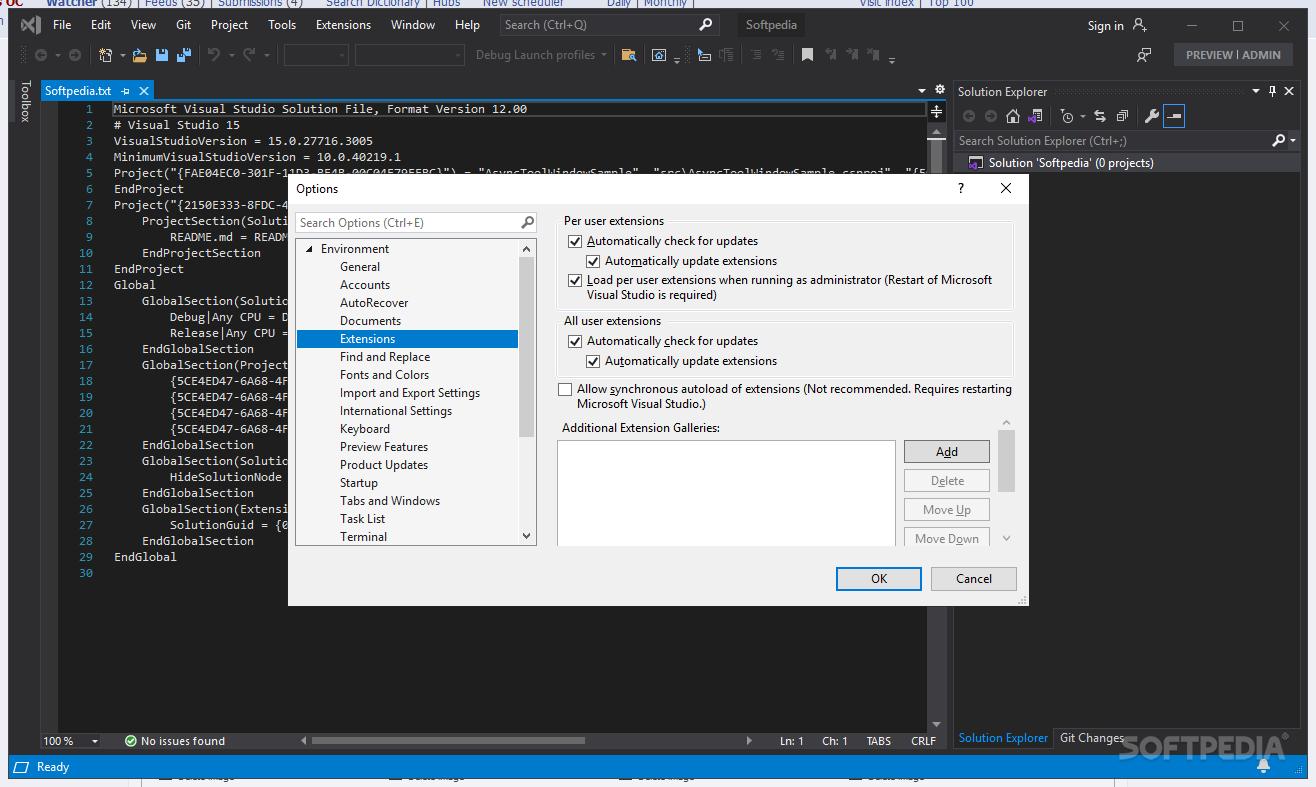visual studio 2013 for windows desktop