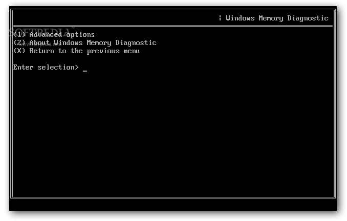 Microsoft Windows Memory Diagnostic screenshot 3 - Users will be able to access more options by pausing the scanning process and then pressing the `M` key
