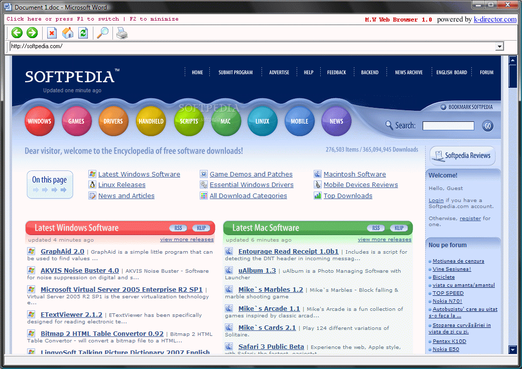 Download Microsoft Word Web Browser 1 0