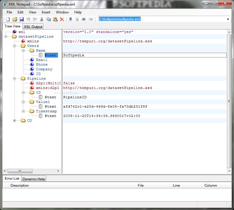 Download Microsoft XML Notepad 2007 2 5