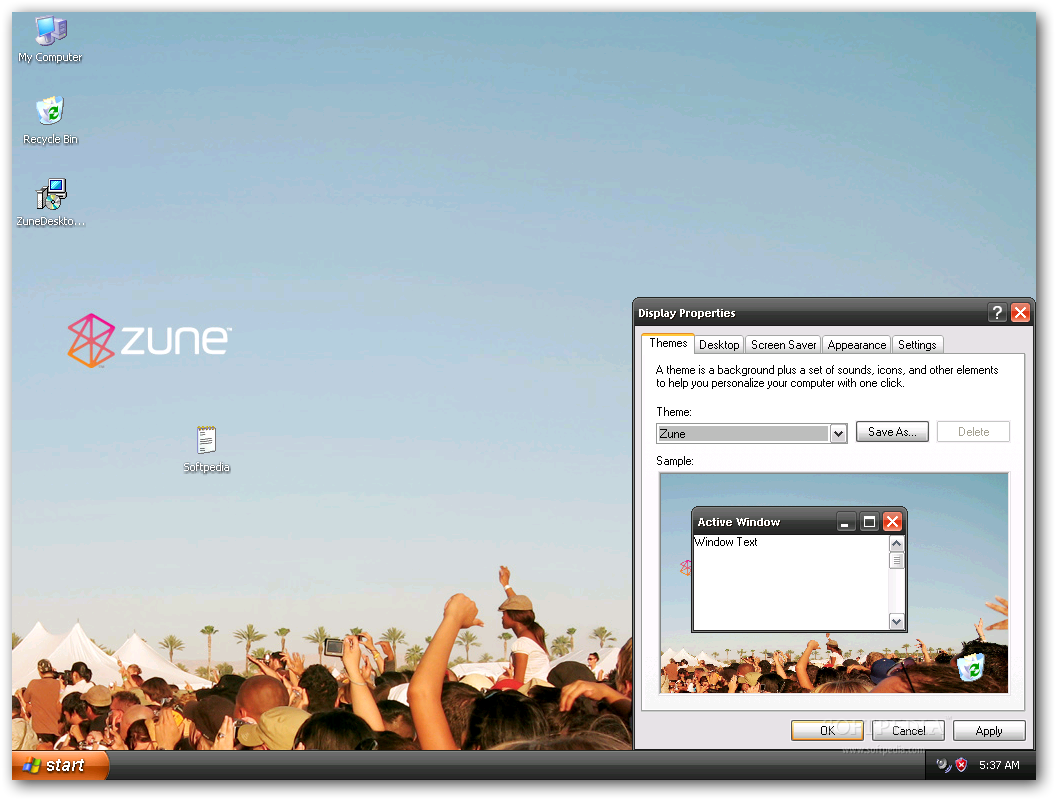 Windows zune theme xp download