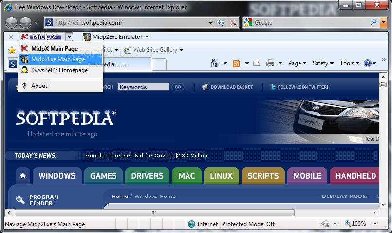 midpx j2me emulator