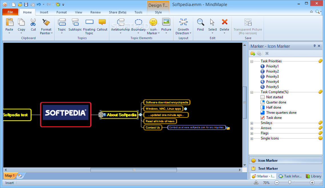 WatFile.com Download Free MindMaple Lite - MindMaple Lite can create simple to complex mind maps