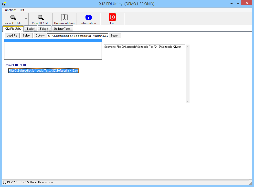 Download X12 EDI Utility 1 22C-01