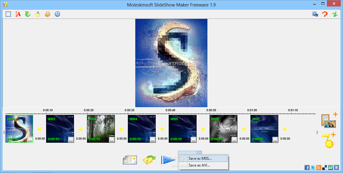 Moleskinsoft SlideShow Maker screenshot 2 - Moleskinsoft SlideShow Maker will also enable you to personalize your slideshows with a few visual effects.