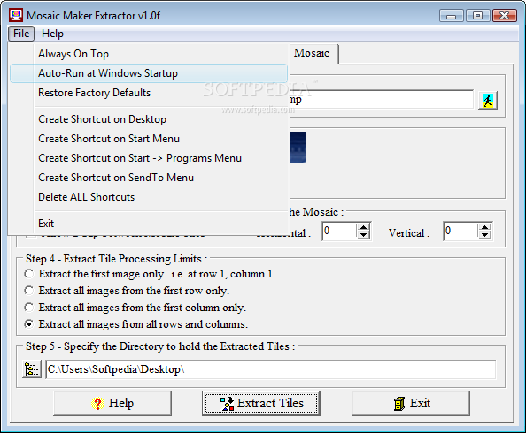 Download Mosaic Maker Extractor 1 0f