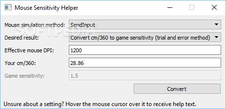 Download Mouse Sensitivity Helper 2 03