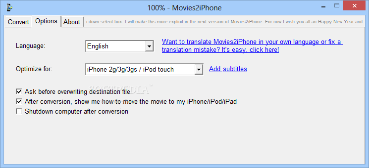 movies2iphone pour windows 8