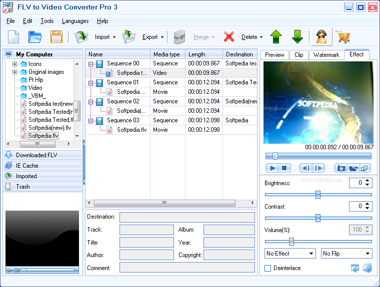 Moyea FLV to Video Converter Pro 2 is to convert web videos Wmv, mov, files
