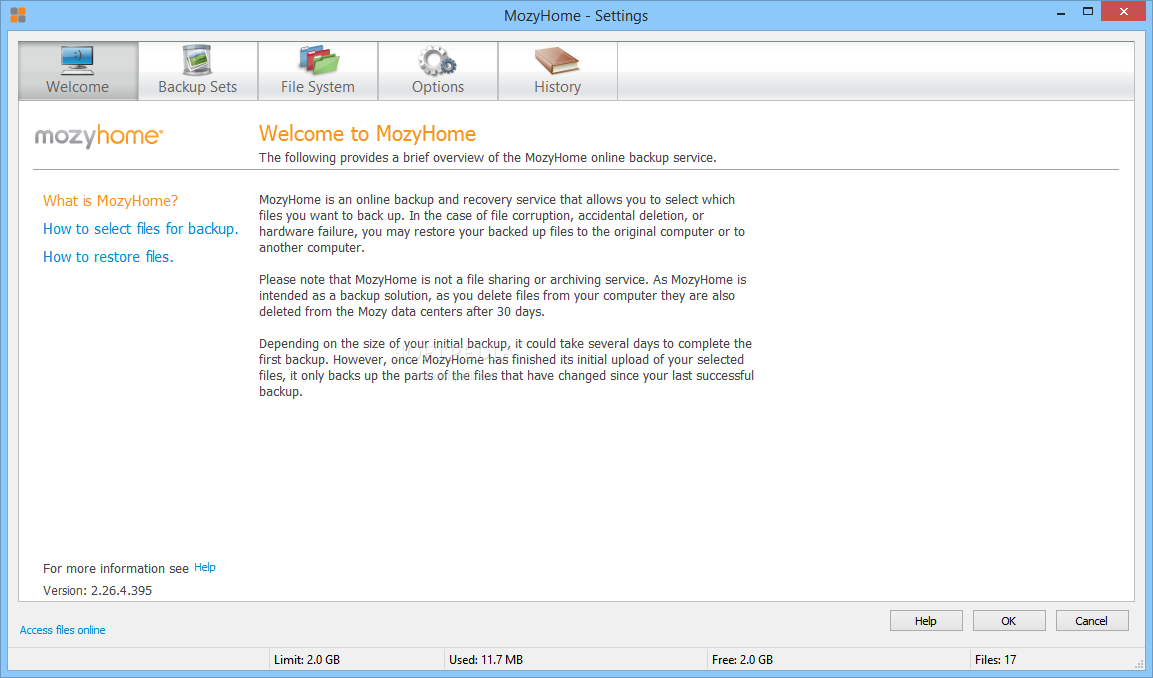 Download MozyHome 2 38 2 674