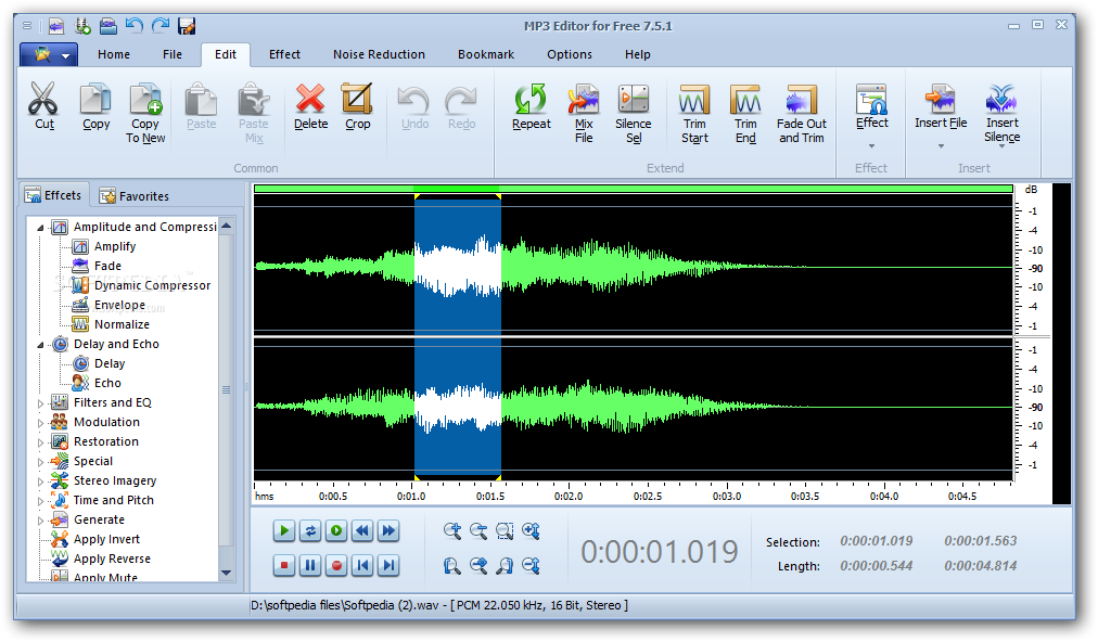 Free MP3 Cutter and Editor Portable Download - softpediacom