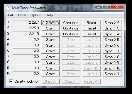Download MultiTrack Stopwatch 2 3 1