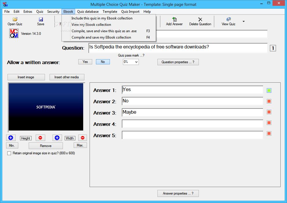 Download Multiple Choice Quiz Maker 18 5 0