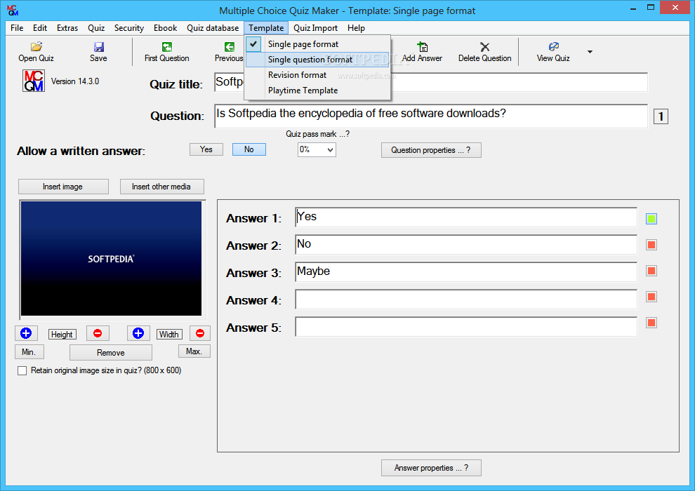 Download Multiple Choice Quiz Maker 18.5.0