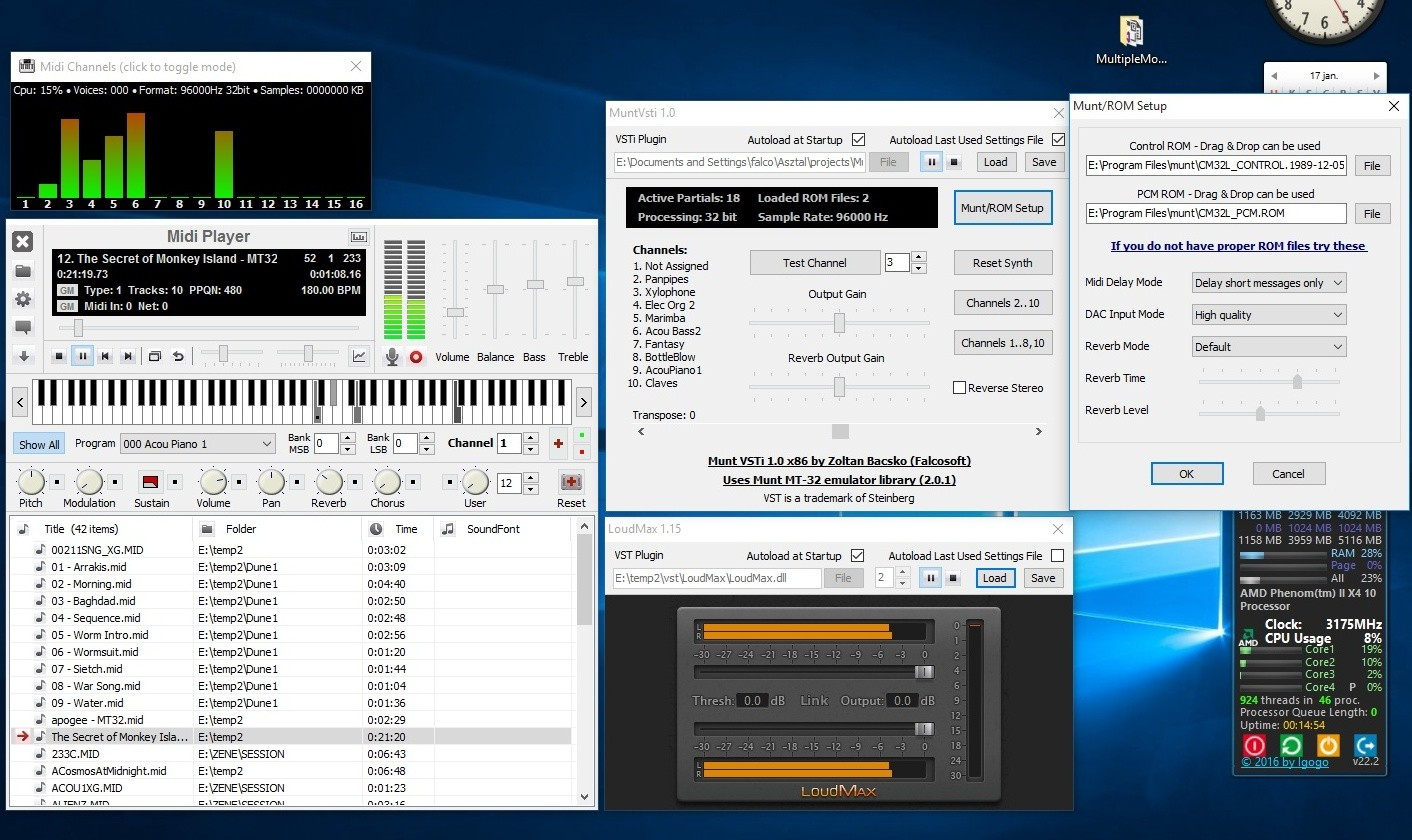 how to get vst host midi keyboard working
