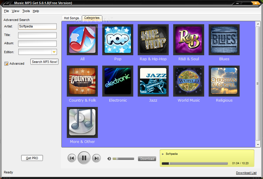 how to download music from audio network
