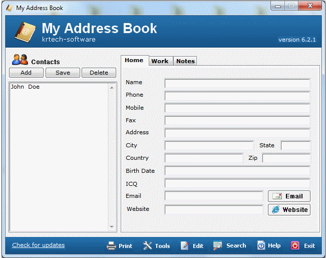 download my address book 6 3 0