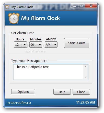 how to set an alarm on windows 7