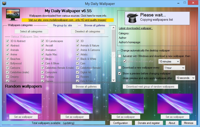 My Daily Wallpaper The Main Window Of My Daily Wallpaper Allows You To Choose The