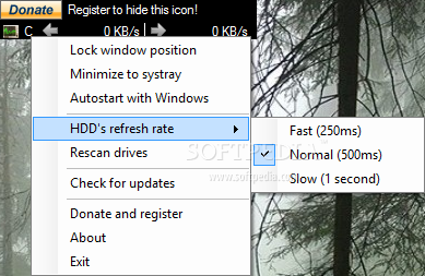 My HDD Speed screenshot 1 - My HDD Speed can help users monitor the performance of their hard drive by tracking its speed
