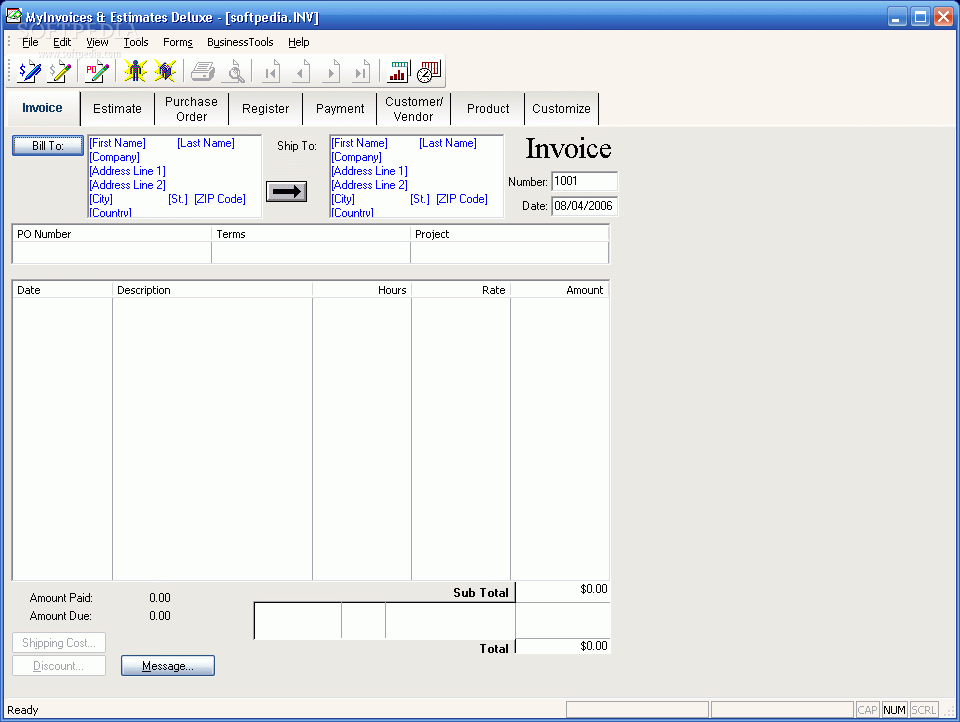 My deluxe invoices estimates 55 download version for My deluxe invoices and estimates free download