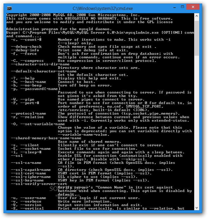mysql command line client for windows 7 free download