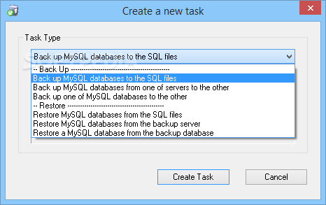 Auto backup mysql professional edition commercial license.