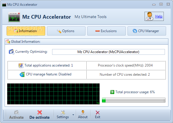 Mz CPU Accelerator screenshot 1 - Mz CPU Accelerator will help you easily run applications much faster than the original speed