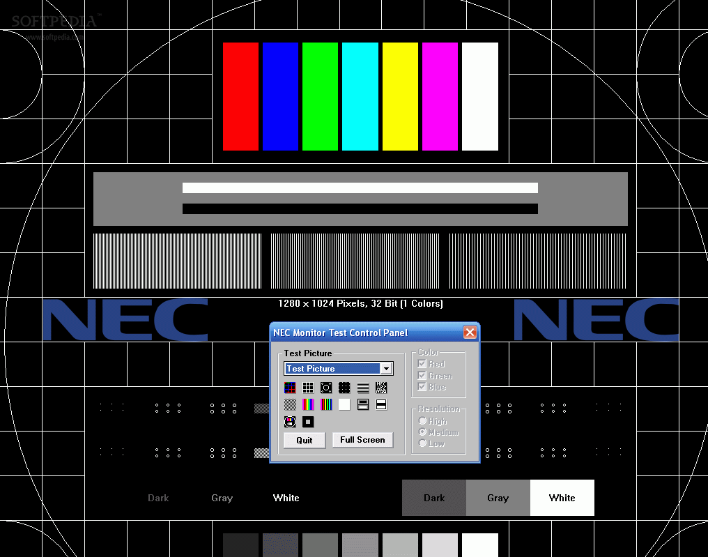 Download NEC Test Pattern Generator 1 0