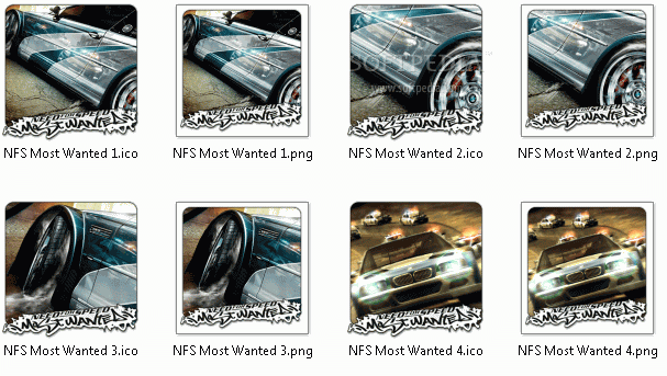 Download NFS Most Wanted Icon Pack