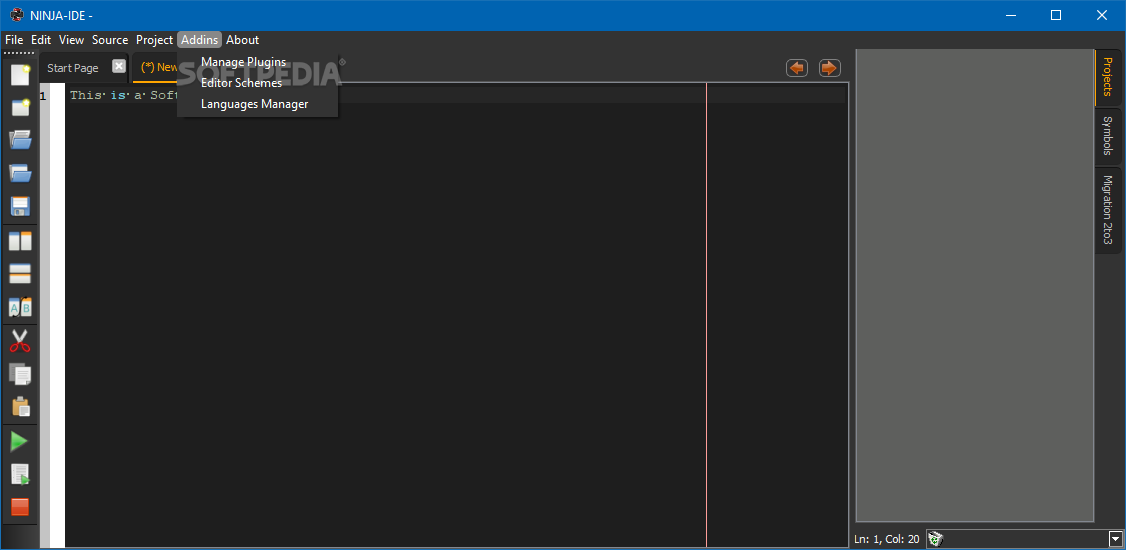 Download NINJA-IDE Portable 2 3