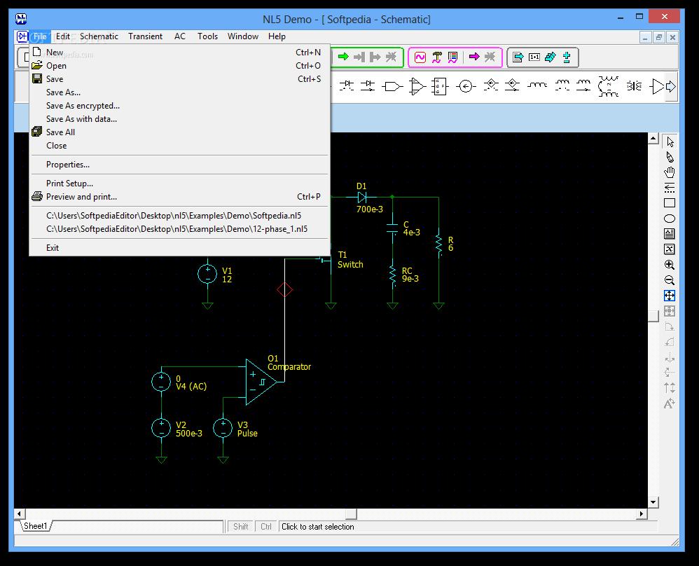 download nl5 circuit simulator 25 build 2