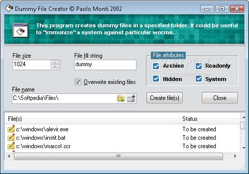 File image creator