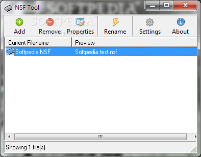 NSF Tool screenshot 1 - This is the main window of NSF Tool that allows you to access all the features of the application.