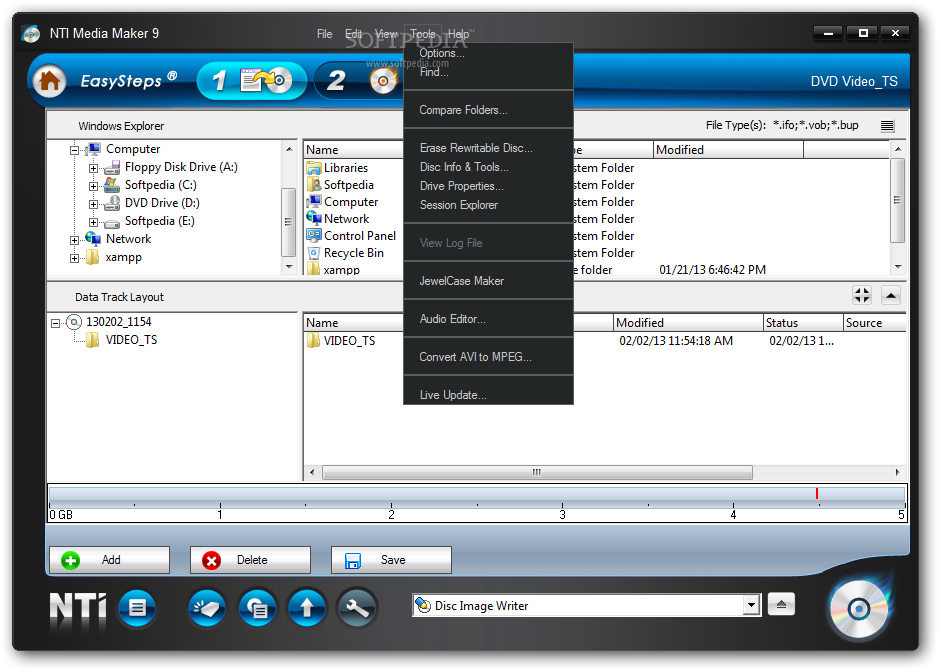 Backup and storage management software, sync software, cd dvd.