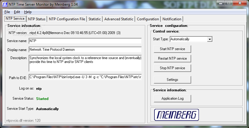 Download NTP Time Server Monitor 1 04