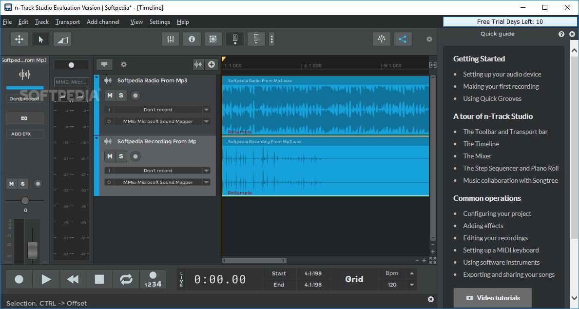 Download n-Track Studio 9 0 2 Build 3572 / 9 1 0 Build 3618 Beta
