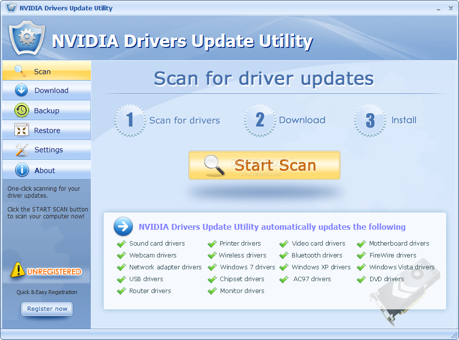 Nvidia drivers update utility 2.7 license key