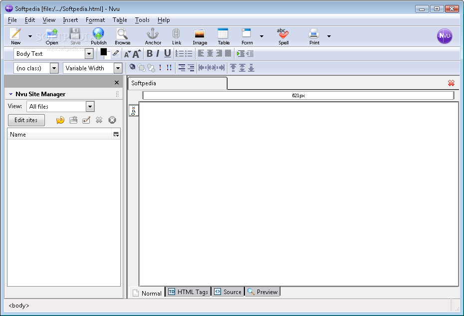 nvu web editor download