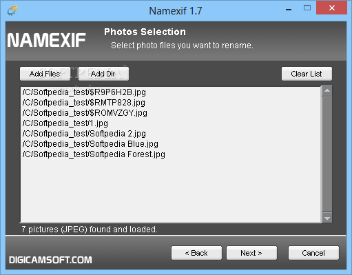 namexif software
