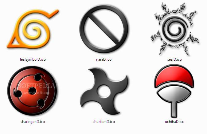 download naruto themed windows icons