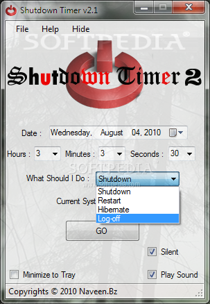 how to set timer to shutdown pc windows 7