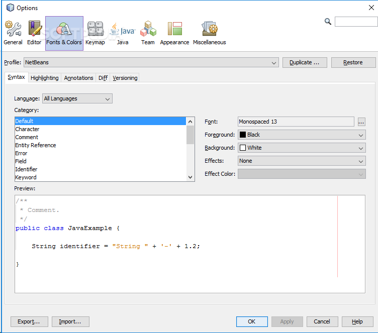 ide in java images