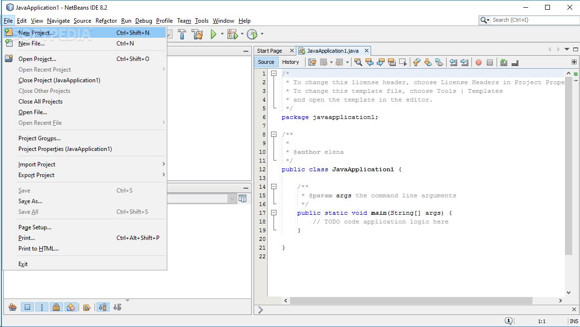 Download NetBeans IDE Portable 8 2 Build 201609300101