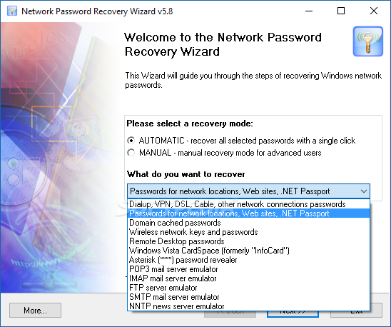 network password recovery wizard download. Black Bedroom Furniture Sets. Home Design Ideas